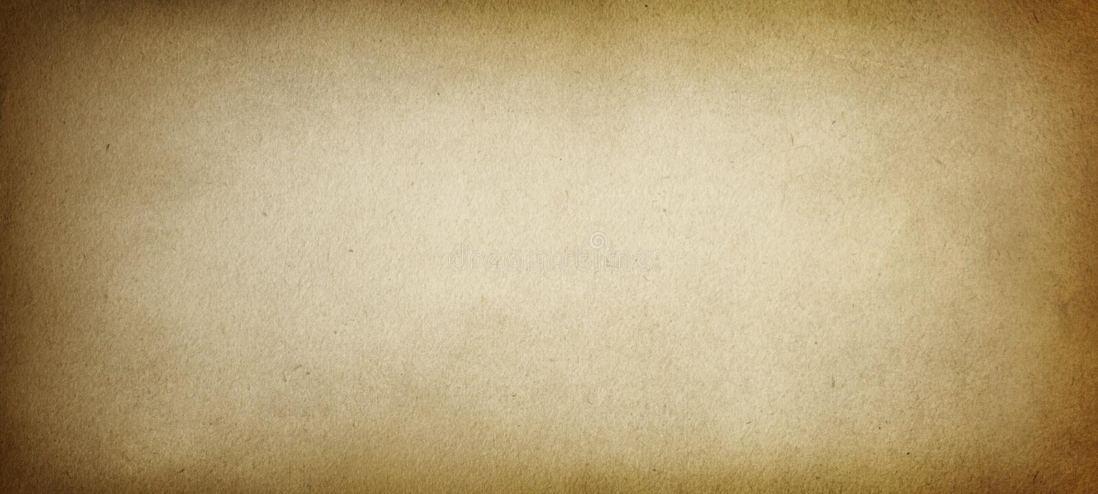 Old brown paper, paper texture, vintage, retro, rough, antique, blank, space for text, beige, grunge background 皇族释放例证