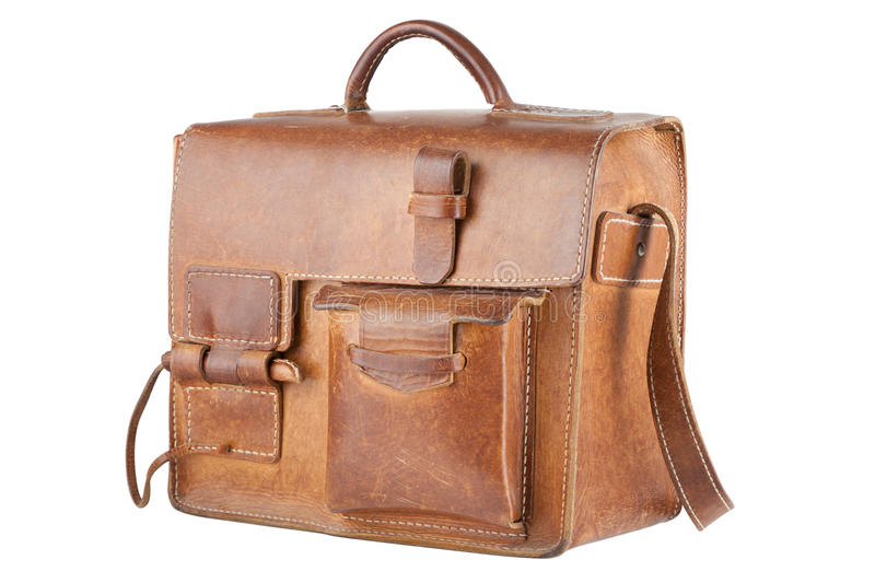 Old Brown Shoulder bag royalty free stock photos
