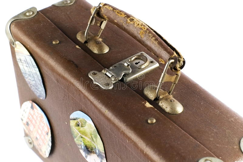Old Brown Suitcase Stock Images