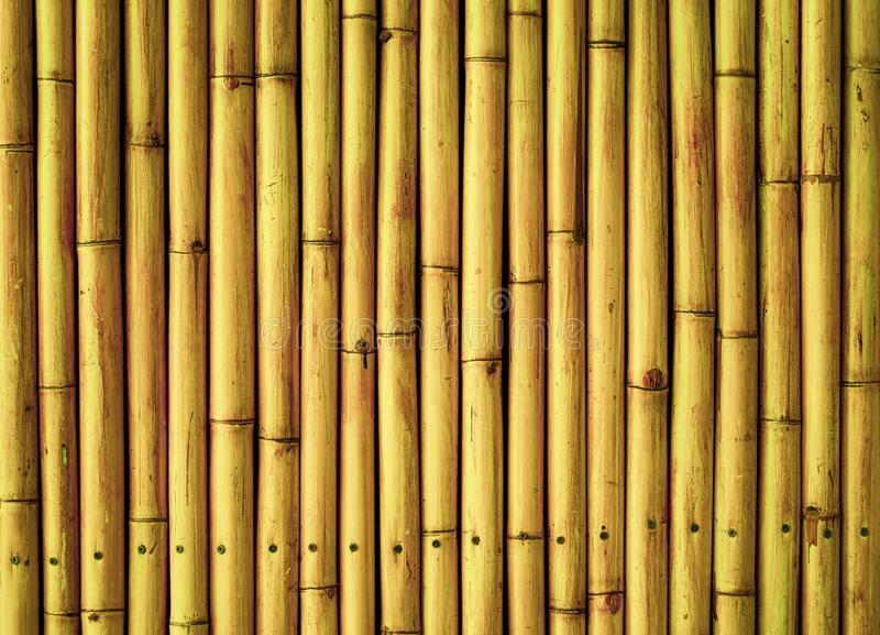 Old brown tone bamboo plank fence texture for background stock image