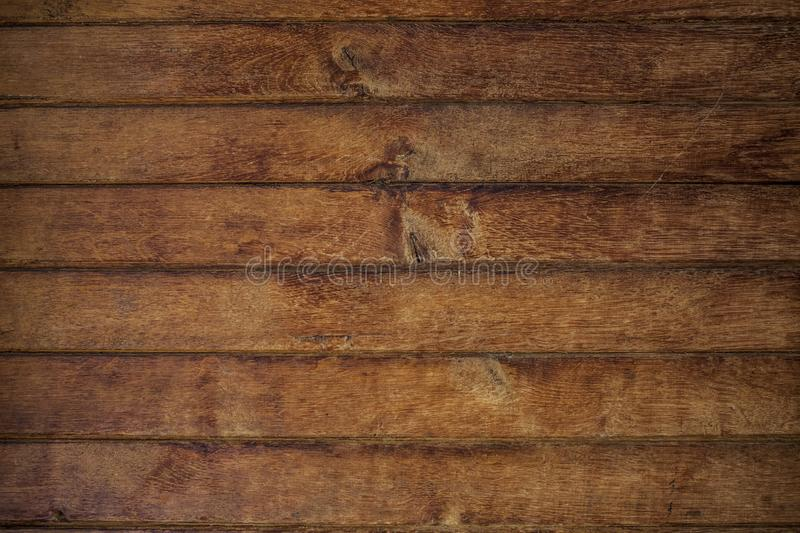 Old wooden planks detail texture. Old brown wooden planks detail texture from above royalty free stock photography