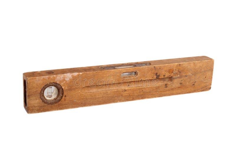 Old brown wooden spirit level stock photos