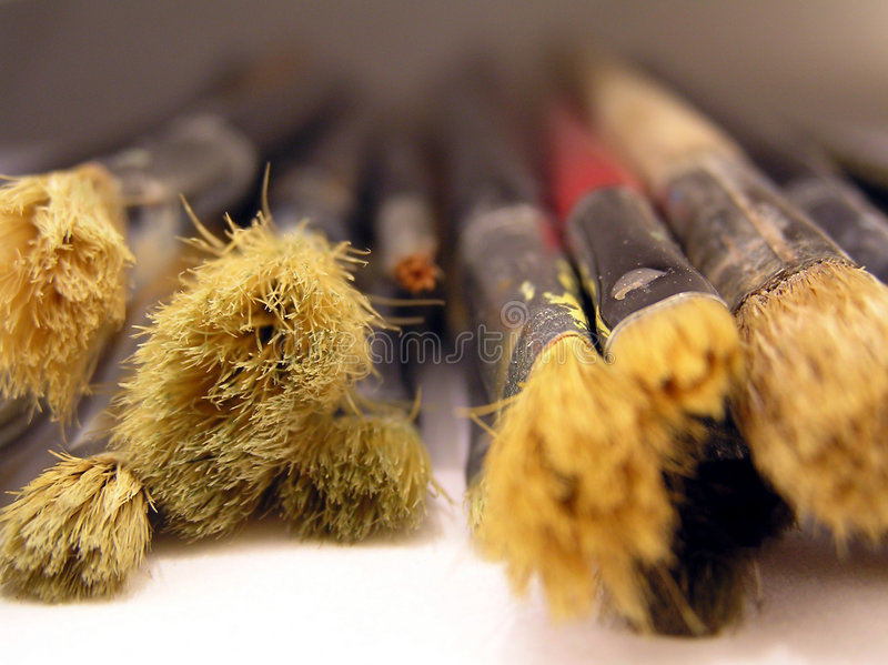 Download Old brushes stock image. Image of details, white, hobbies - 516775
