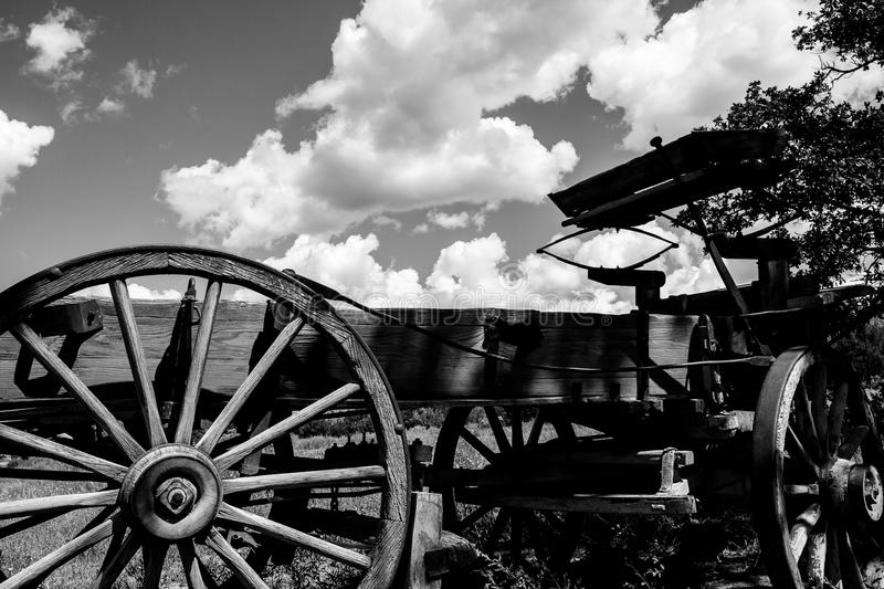 Old Buckboard. This image of an old wagon or buckboard was captured in New Mexico at Ghost Ranch, not too far from Santa Fe royalty free stock photo