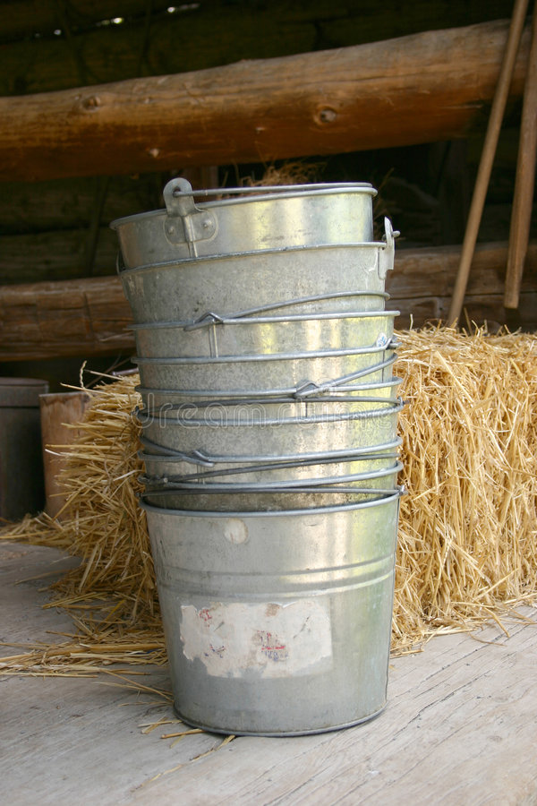 Old bucket royalty free stock images
