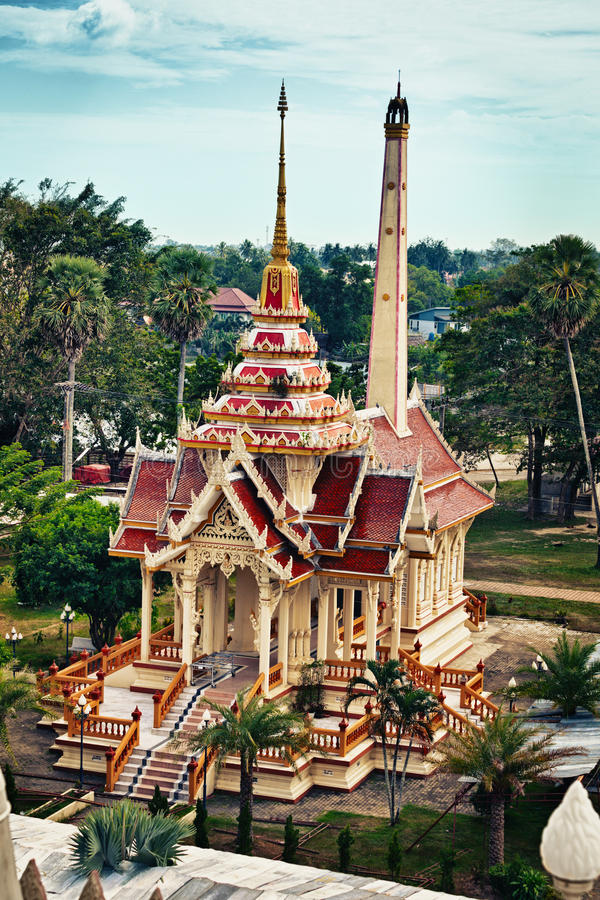 Old buddist crematory in Wat Chalong. Thailand. royalty free stock photography
