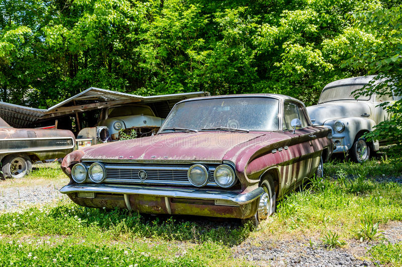 Old Buick In Junkyard Editorial Image Image 69243185