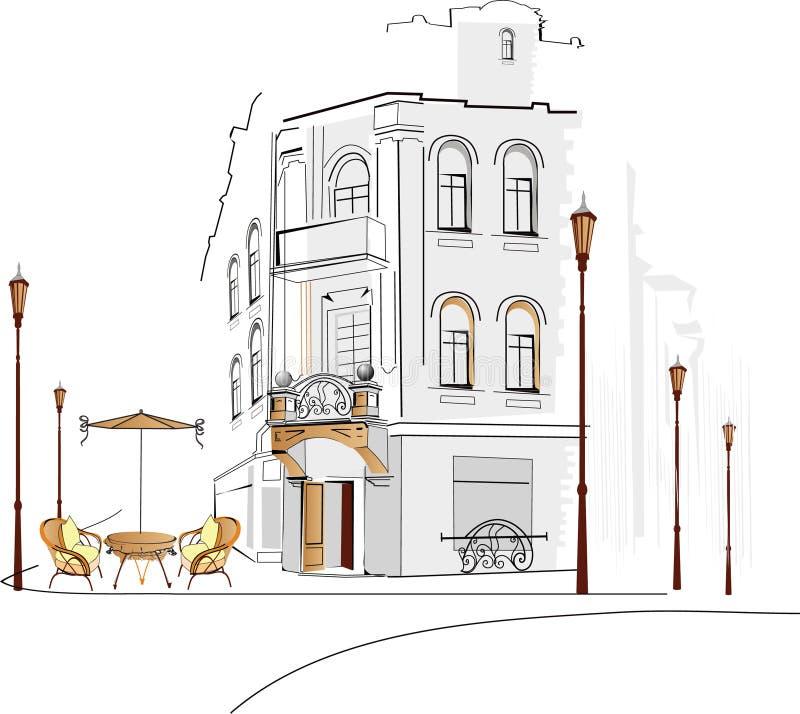 Old building stock illustration