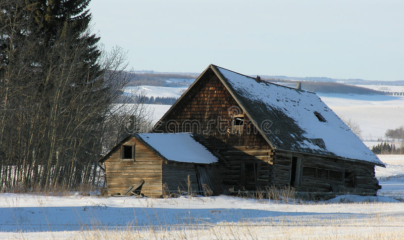 Download Old Building stock image. Image of falling, pioneer, farmhouse - 75695