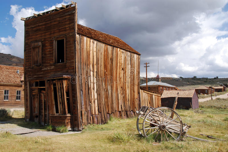 Bodie. Old building in Bodie Ghost Town, California stock photo