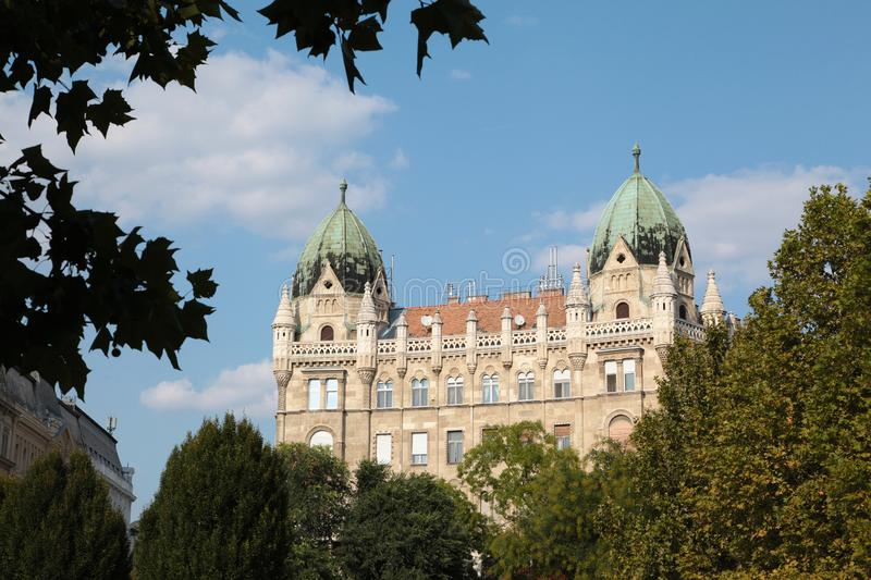 Old building in Budapest in september in Hungary royalty free stock photo