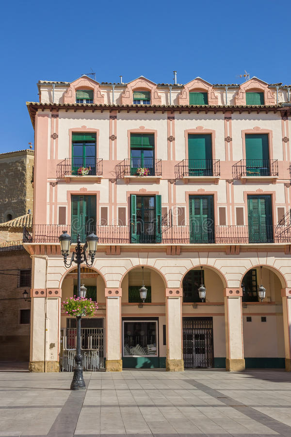 Old building at the central square in Huesca. Spain royalty free stock photography