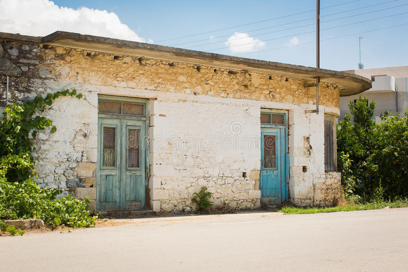 Old building Crete royalty free stock images