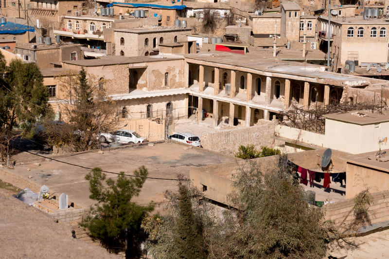 Old Building in Distric Of Akre Aqrah Kurdistan Of Iraq. A general photo of Akre Aqrah city in Kurdistan of Iraq. Lokated in the north of Iraq. The old district stock images