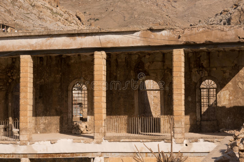 Old Building in Distric Of Akre Aqrah Kurdistan Of Iraq. A general photo of Akre Aqrah city in Kurdistan of Iraq. Lokated in the north of Iraq. The old district royalty free stock image