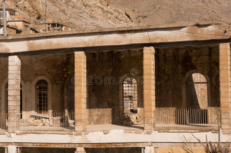 Old Building in Distric Of Akre Aqrah Kurdistan Of Iraq. A general photo of Akre Aqrah city in Kurdistan of Iraq. Lokated in the north of Iraq. The old district stock photos