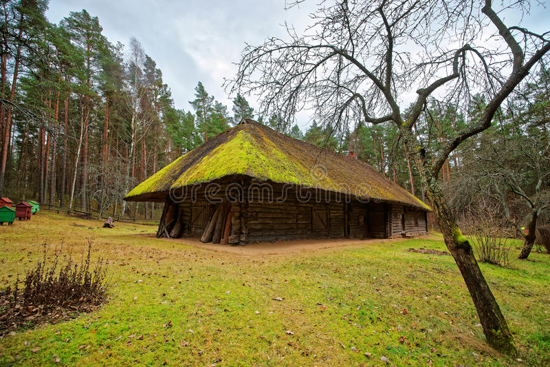 Old building in Ethnographic open air village near Riga Baltic. Old building in Ethnographic open air village near Riga, Latvia, Baltic country royalty free stock images