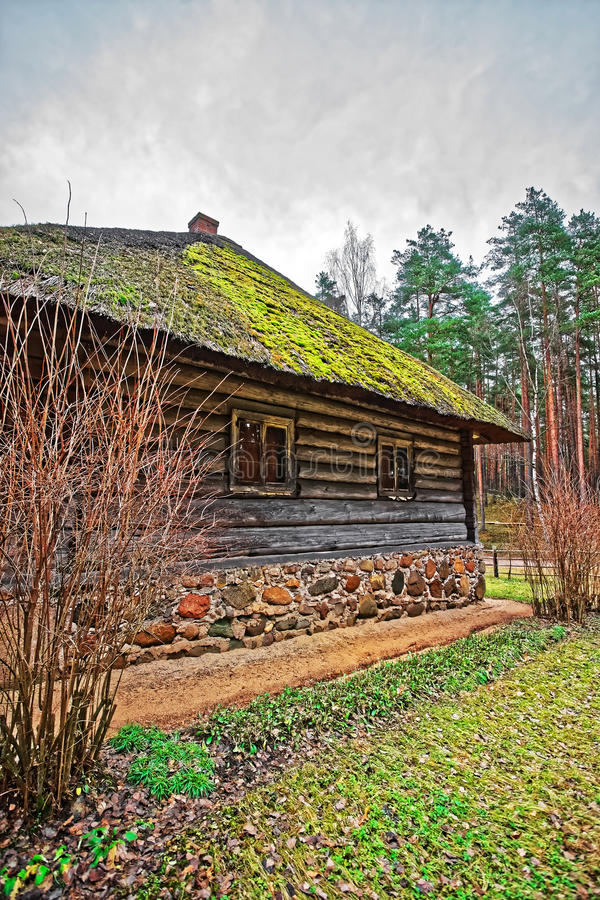 Old building at Ethnographic open air village near Riga Baltic. Old buildings at Ethnographic open air village near Riga, Latvia, Baltic country stock photo