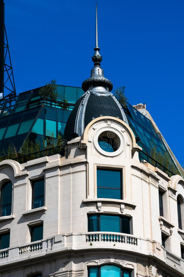 Old building facade on July 9 Avenue stock photography