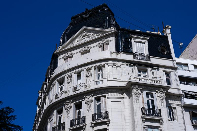Old building facade opposite Lavalle Square royalty free stock photos
