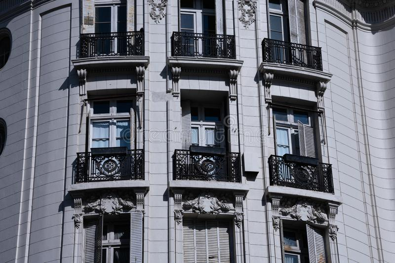 Old building facade opposite Lavalle Square royalty free stock image