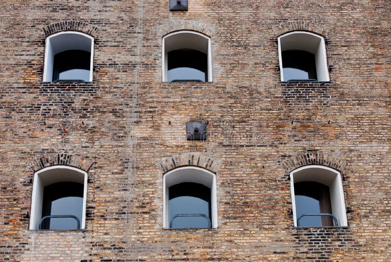 Old Building Facade With Windows Stock Photography