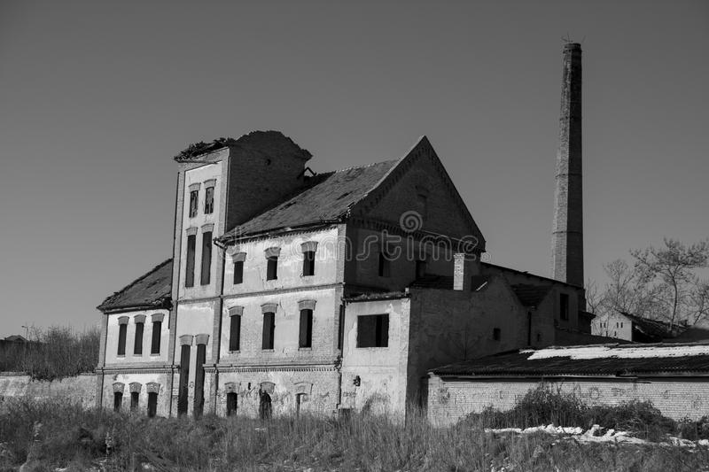 Old building. Factories for the production of downtown royalty free stock image