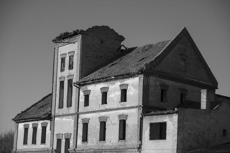 Old building. Factories for the production of downtown stock photo