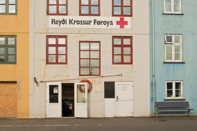 Old building in Faroe Islands capital stock image