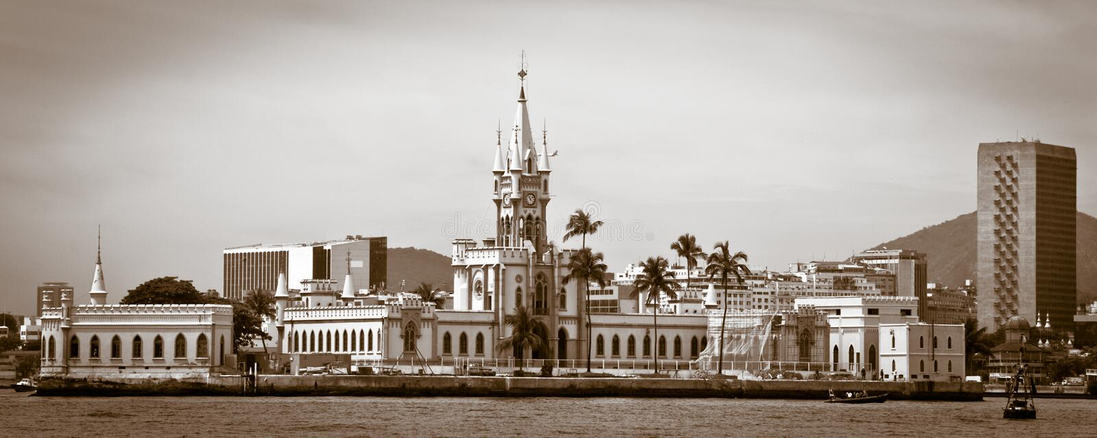 Old Building On Fiscal Island Royalty Free Stock Image