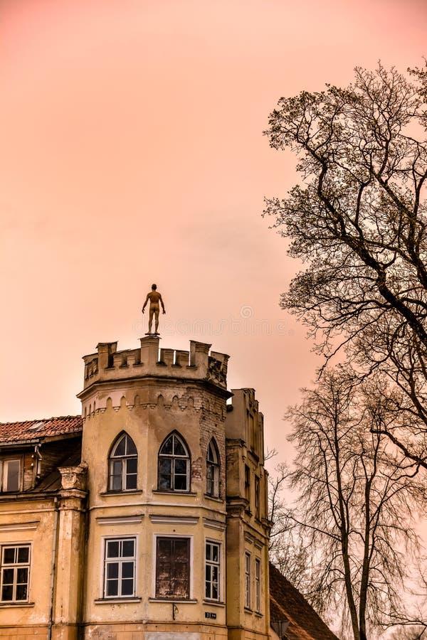 Old building in Kuldiga, Latvia stock photo
