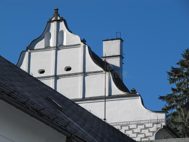 Old Building Roof royalty free stock image