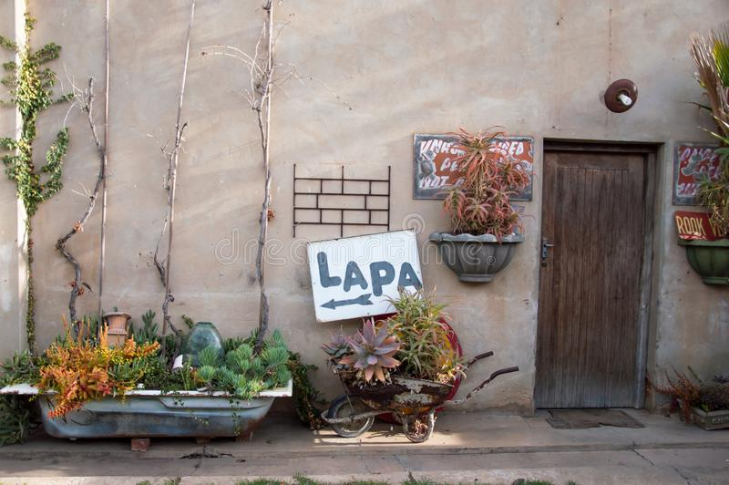 Outside area of a lapa stock photography