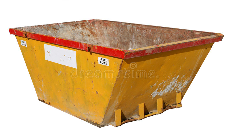 Old Building Site Skip. Royalty Free Stock Images