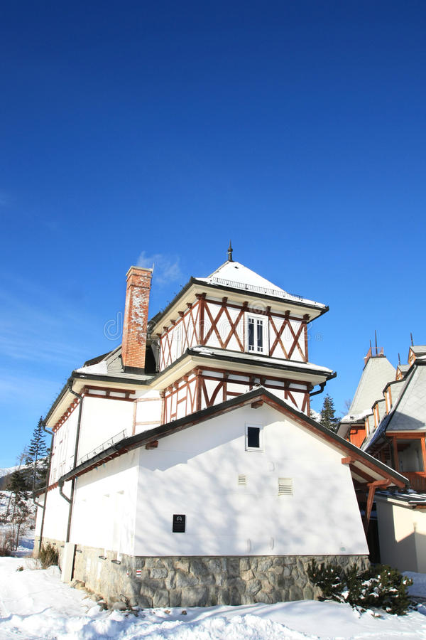 Download Old Building Of Strbske Pleso Stock Photo - Image of europestone, blue: 17722598