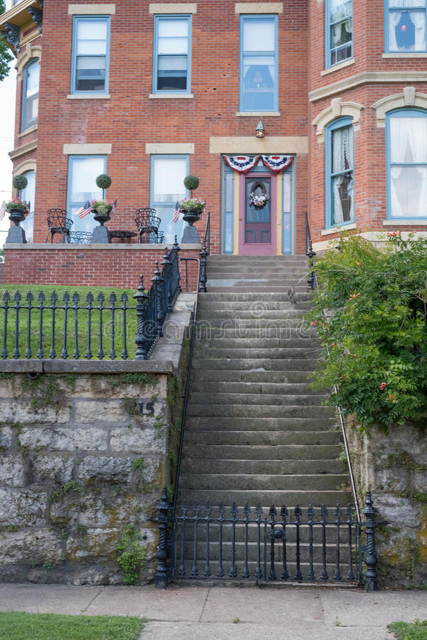 Old building on a street of Galena, Illinois stock photography