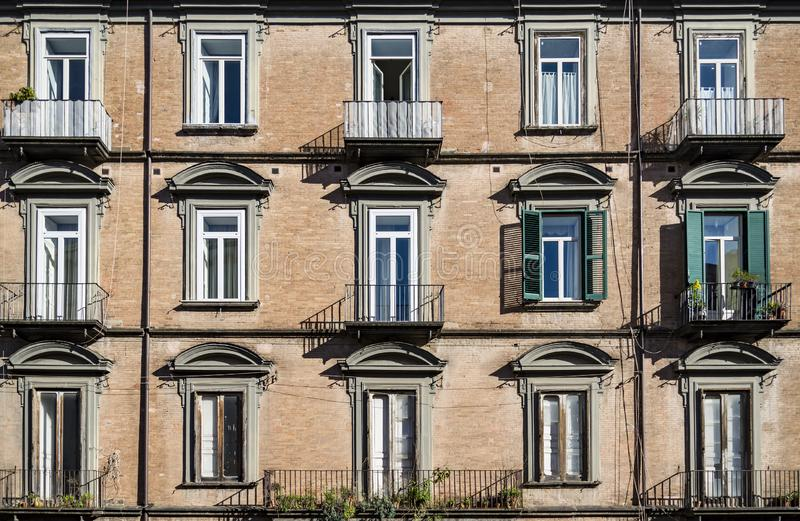 Old building on the streets of Naples old town Italy stock photography