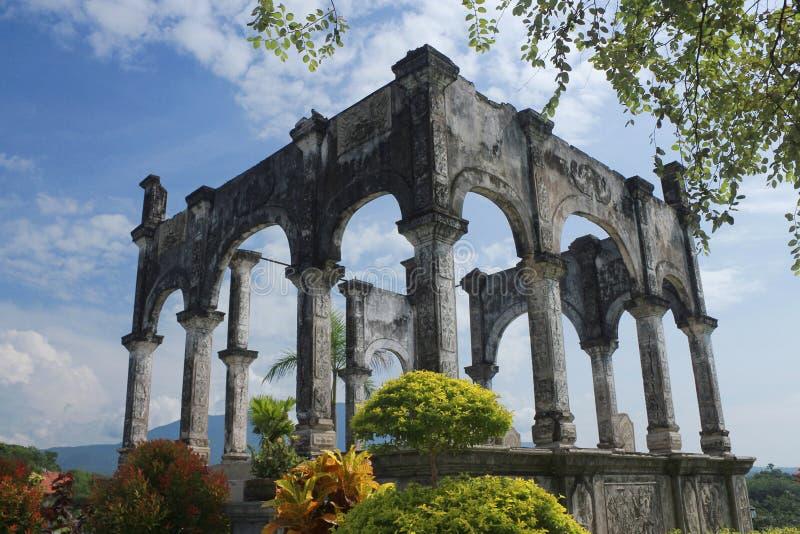 Old building of taman ujung Bali stock photo
