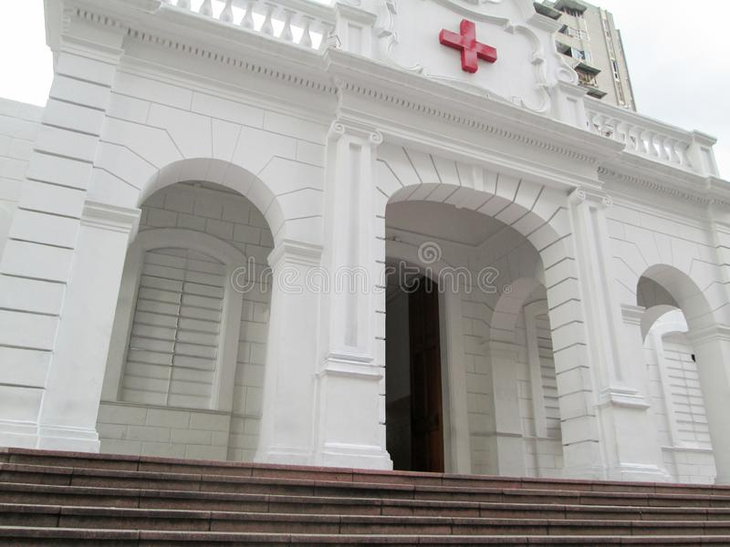 Old building of the Venezuelan Red Cross located in downtown of the city of Caracas.  royalty free stock image