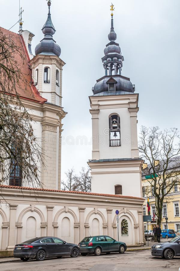 Old town Vilnius Lithuania. Old building in the old of Vilius in Lithuania Baltic States Europe stock photography