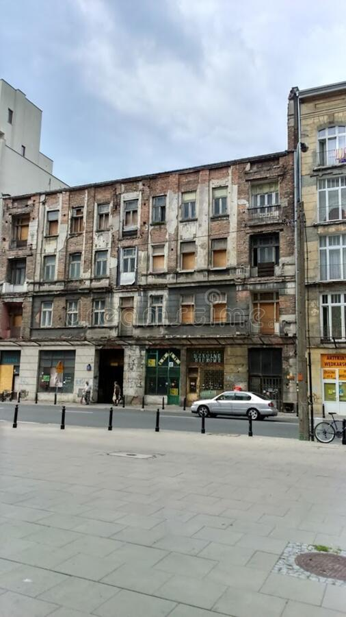 Old building in Warsaw stock photo