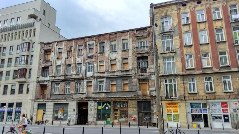 Old building in Warsaw stock photos