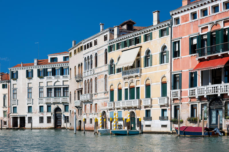 Old Buildings Along The Grand Canal In Venice Stock Photo
