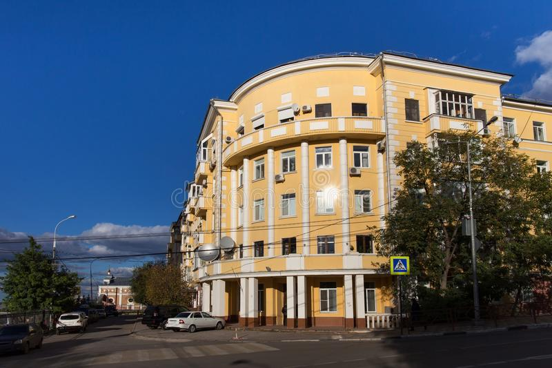 Old buildings in the center of Samara. The city, known from 1935 to 1991 as Kuybyshev, is the sixth largest city in Russia. It is situated in the southeastern royalty free stock photo