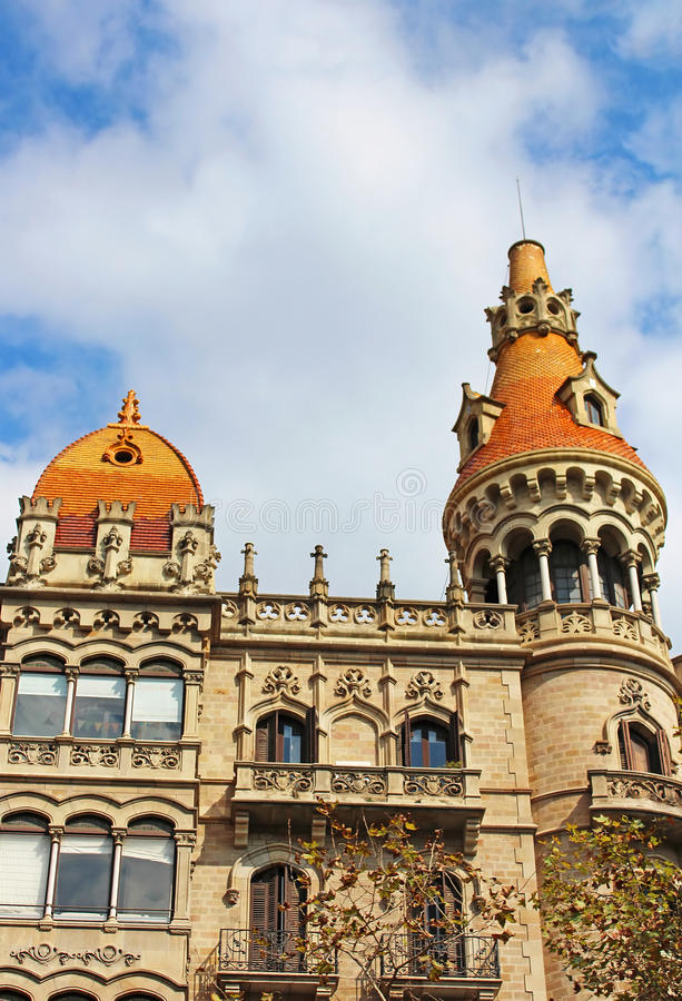 Old Buildings Facades In Barcelona Stock Photo Image 34615620