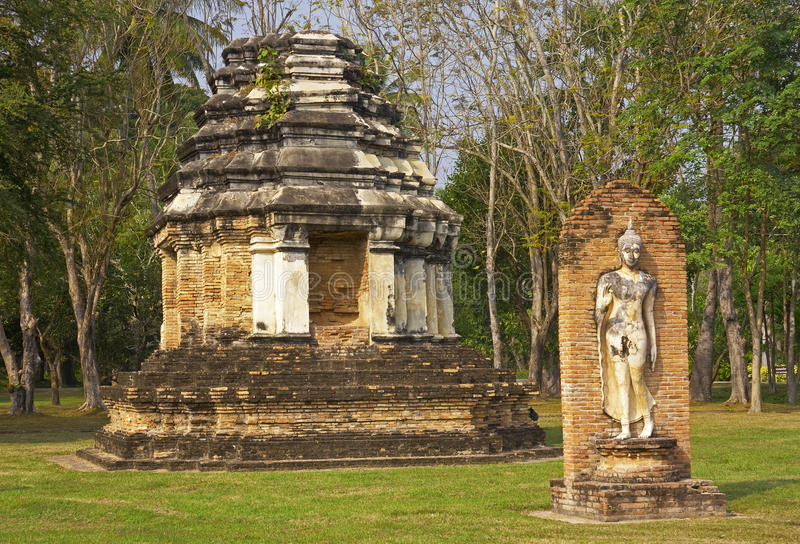 Old buildings in the Historical Park in Sukhothai stock photo