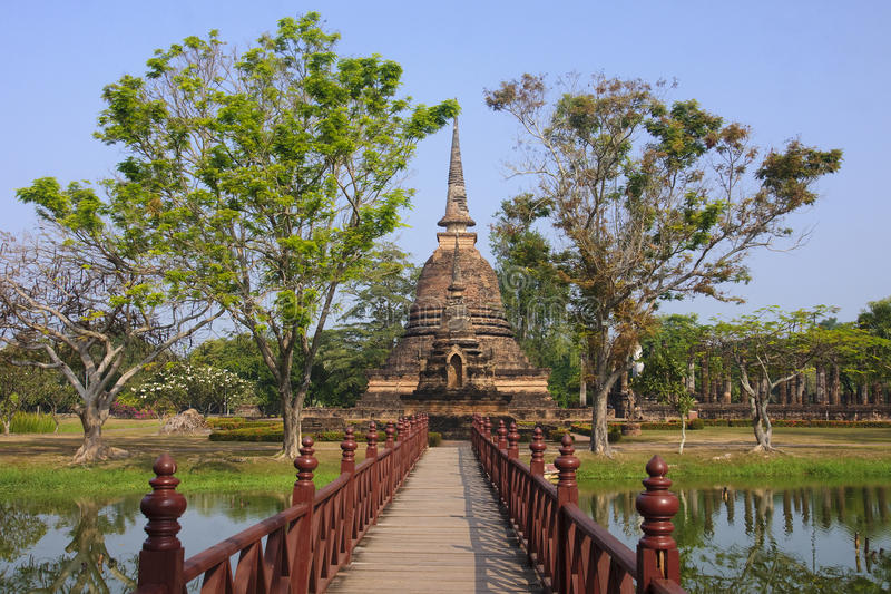 Old buildings in the Historical Park in Sukhothai stock photos