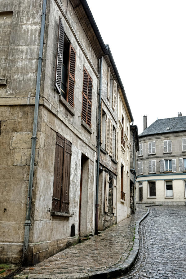 Old Buildings and Houses on Cobblestone Street royalty free stock photography