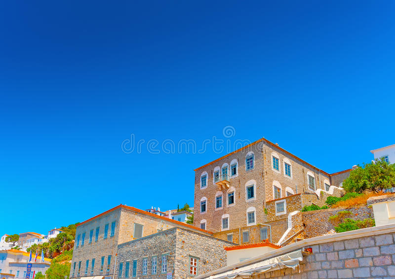 Download Old buildings at Hydra stock photo. Image of meuseum - 41351716