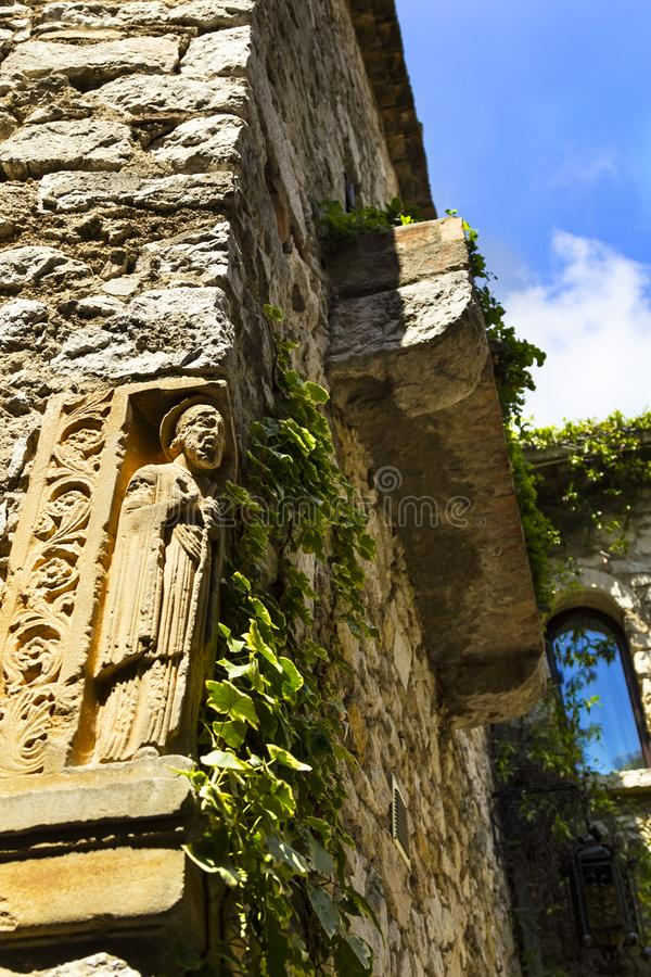 Old buildings in medieval Eze village at french Riviera coast Provence, France royalty free stock images